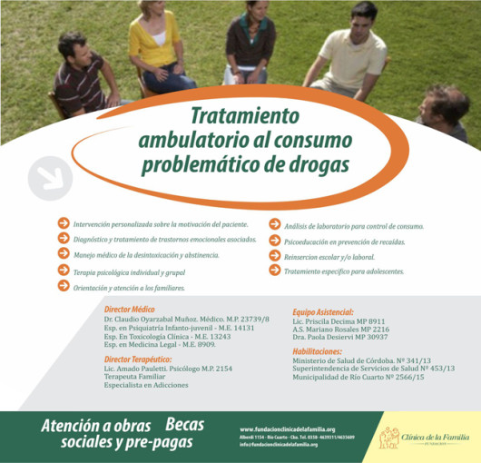 Tratamiento al consumo problemático de drogas