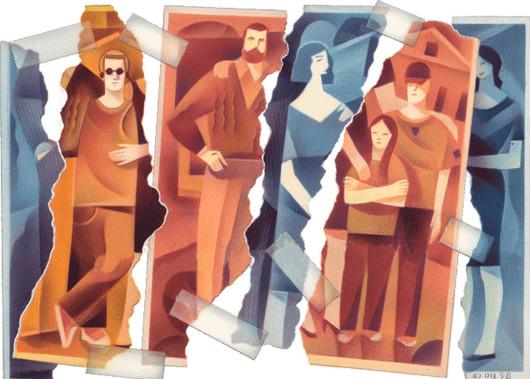 dibujo familia ensamblada